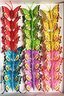 Декоративные бабочки на прищепке (5 см) 287218