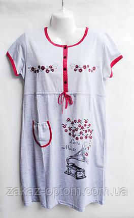Ночная рубашка оптом 100%Cotton (XL-4XL) D101-50099, фото 2