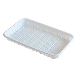 Тарелка пластиковая прямоугольная- 130х210мм, 100 шт.