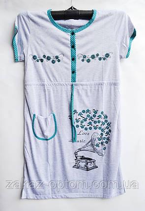Ночная рубашка оптом 100%Cotton (XL-4XL) D101-50101, фото 2