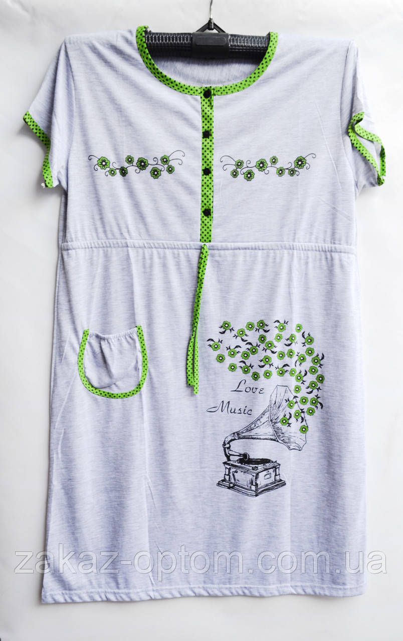 Ночная рубашка оптом 100%Cotton (XL-4XL) D101-50103