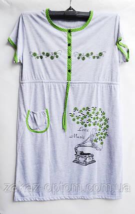 Ночная рубашка оптом 100%Cotton (XL-4XL) D101-50103, фото 2