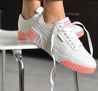 Жіночі кросівки Puma Cali White/pink 36-40р. Живе фото. Репліка ААА+
