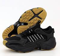 Мужские кроссовки Adidas Consortium x Naked Magmur Runner черные. Фото в живую. Реплика