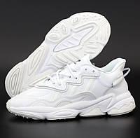 Женские кроссовки Adidas Ozweego White рефлективные. Фото в живую. Реплика