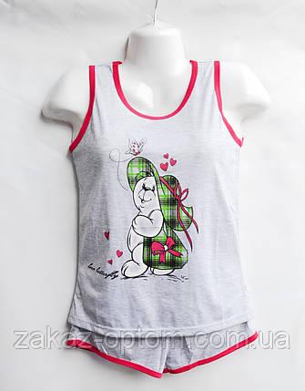 Пижама женская оптом 100%Cotton (XL-4XL) B40-50104, фото 2