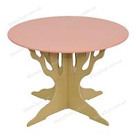Стол деревянный круглый ножки в виде дерева