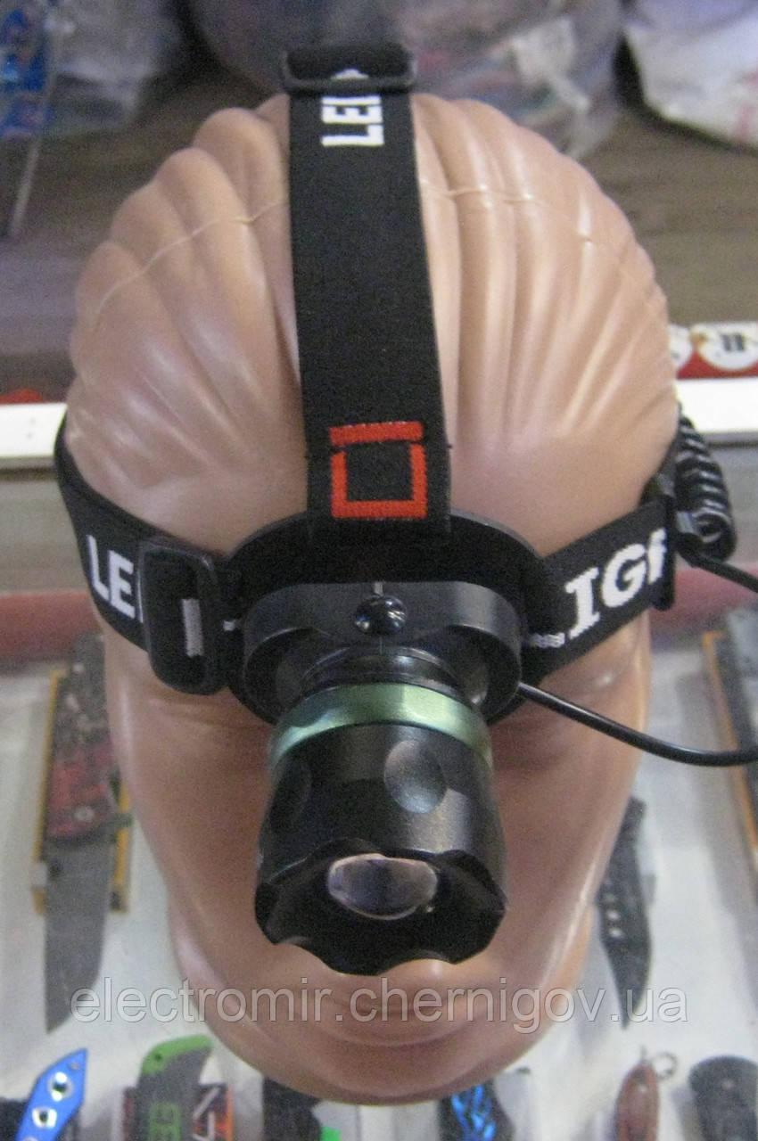 Фонарь налобный аккумуляторный Police BL-T06-T6