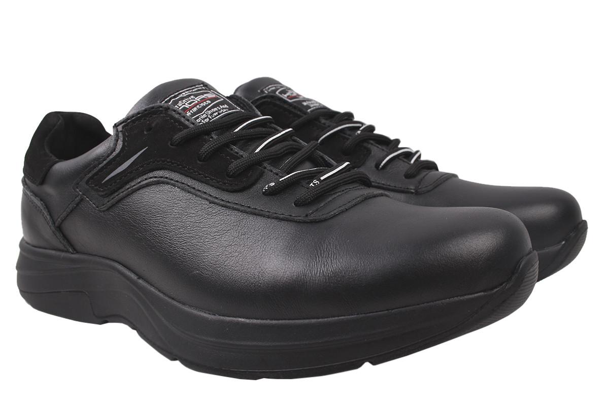 Туфли мужские Konors натуральная кожа, цвет черный, размер 40-45 Украина
