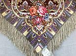 Таинственный образ 1782-53, павлопосадский платок шерстяной с шелковой бахромой, фото 10