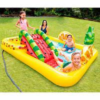 Детский надувной игровой центр Intex 57158 Тропики: Фруктовая вечеринка, 244x191x91 см