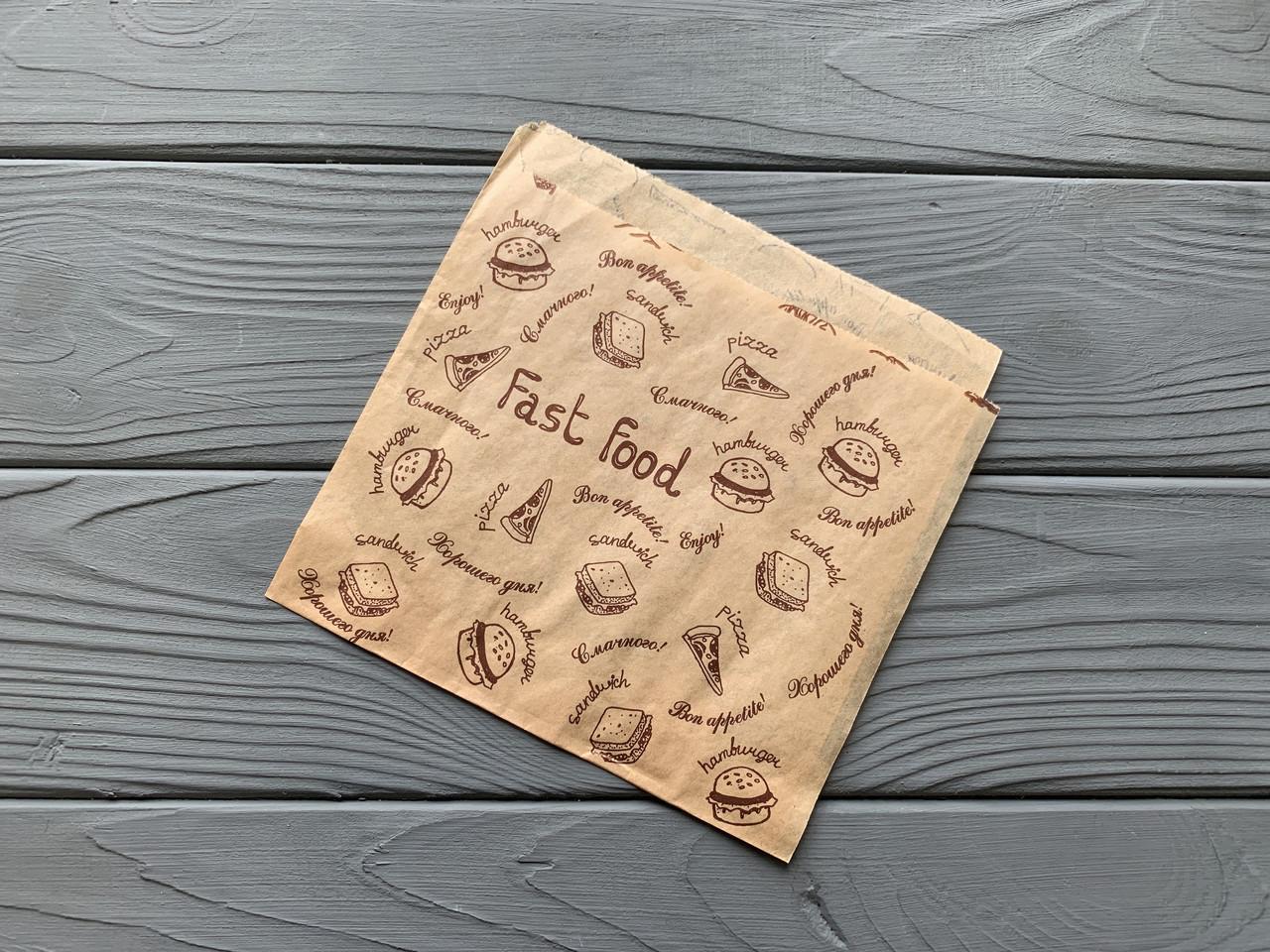 Бумажная упаковка для блинов Эко стиль 45