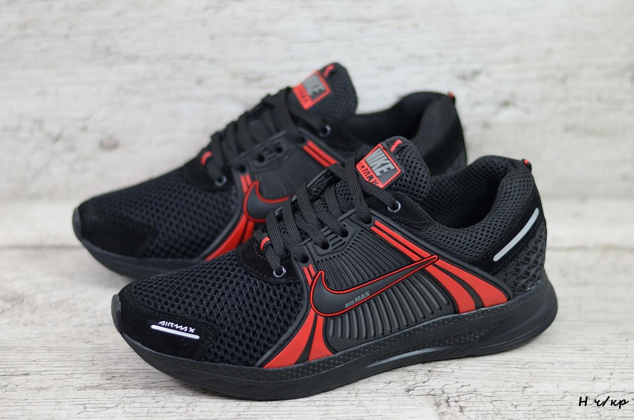 Мужские кроссовки Nike (Реплика) (Код: Н ч/кр  ) ►Размеры [40,41,42,43,44,45]
