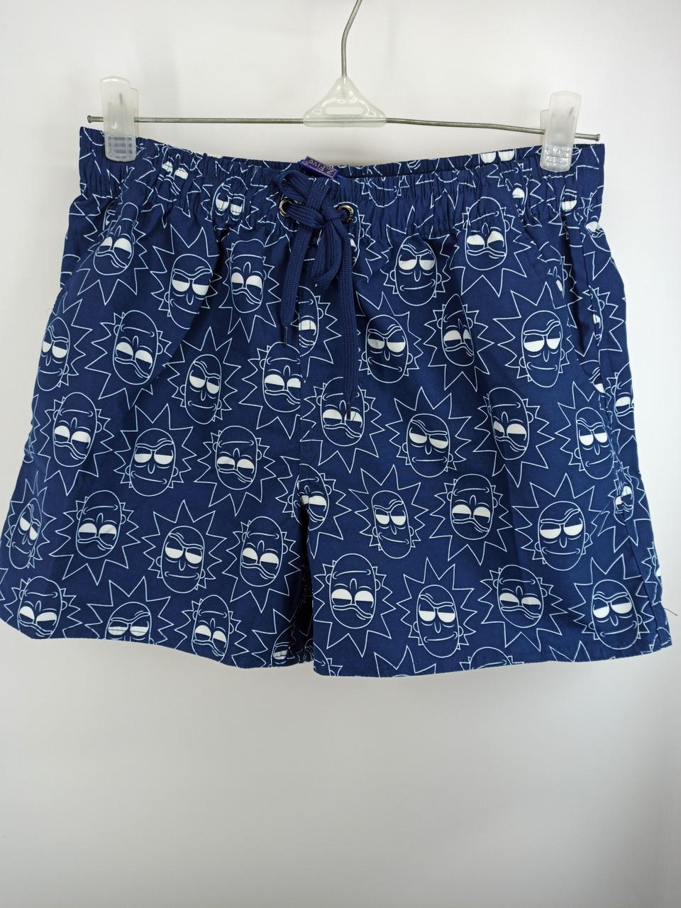 Мужские короткие шорты 8917 синие на 44 46 48 50 52 размер.