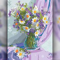 Алмазная мозаика Ваза с ромашками 40x50 TWD10036L The Wortex Diamonds Полная зашивка Цветы, фрукты, натюрморты