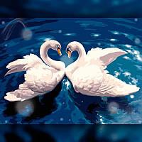 Алмазная мозаика Танец лебедей 40x50 TWD20020L The Wortex Diamonds Полная зашивка Животные
