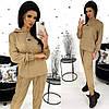 Свободный женский костюм из замша (4 цвета) АА/-1330 - Бежевый