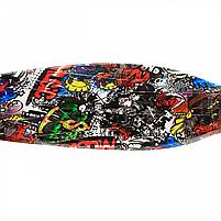 Самокат трехколесный детский Best Scooter разноцветный пластик, 4 колеса PU, свет d=12см (113-95765), фото 2