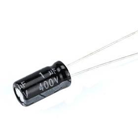 10x Конденсатор электролитический алюминиевый 1мкФ 400В 105С
