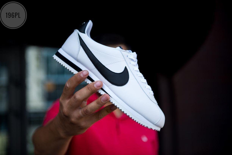 Мужские кроссовки Nike Cortez white/black Classic