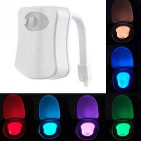 LED подсветка унитаза с датчиками освещенности и движения, 8 цветов