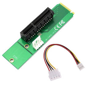 M.2 NGFF на PCI-E 4X райзер переходник LM-141X-V1.0, майнинг