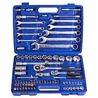 """Werker. Универсальный набор инструмента 1/4"""" & 1/2"""",  82 предмета (UN-1082П)"""