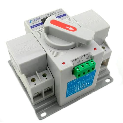 Автомат ввода резерва АВР ATS 2P 63А 220В переключатель TOQ3-63