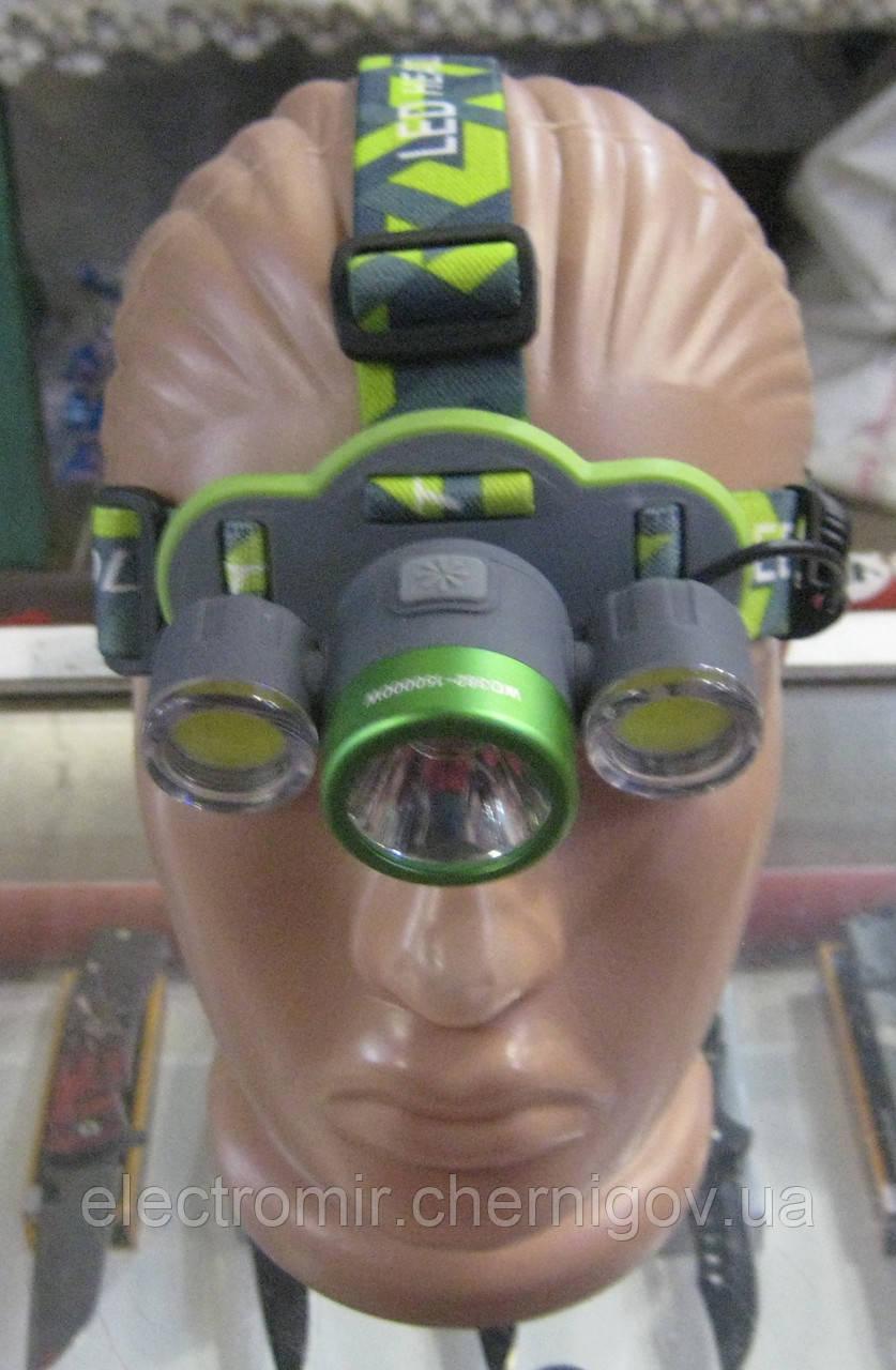 Фонарь налобный аккумуляторный Police WD-382
