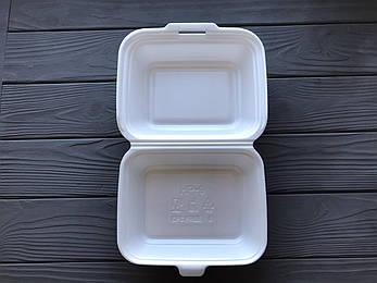 Ланч-бокс HB9 одноразовый белый 185x155x70 мм., фото 2