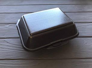Ланч-бокс HB9 одноразовый белый 185x155x70 мм., фото 3