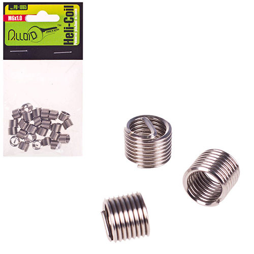 Alloid. Ремонтные резьбовые вставки M6х1.0, 25 шт/уп. (РВ-1065) (РВ-1065)