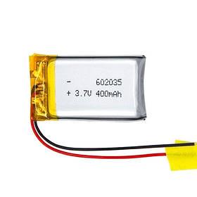 Аккумулятор 602035 Li-pol 3.7В 400мАч для RC моделей DVR GPS MP3 MP4