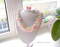 Бело розовое колье Очарование юности, фото 1