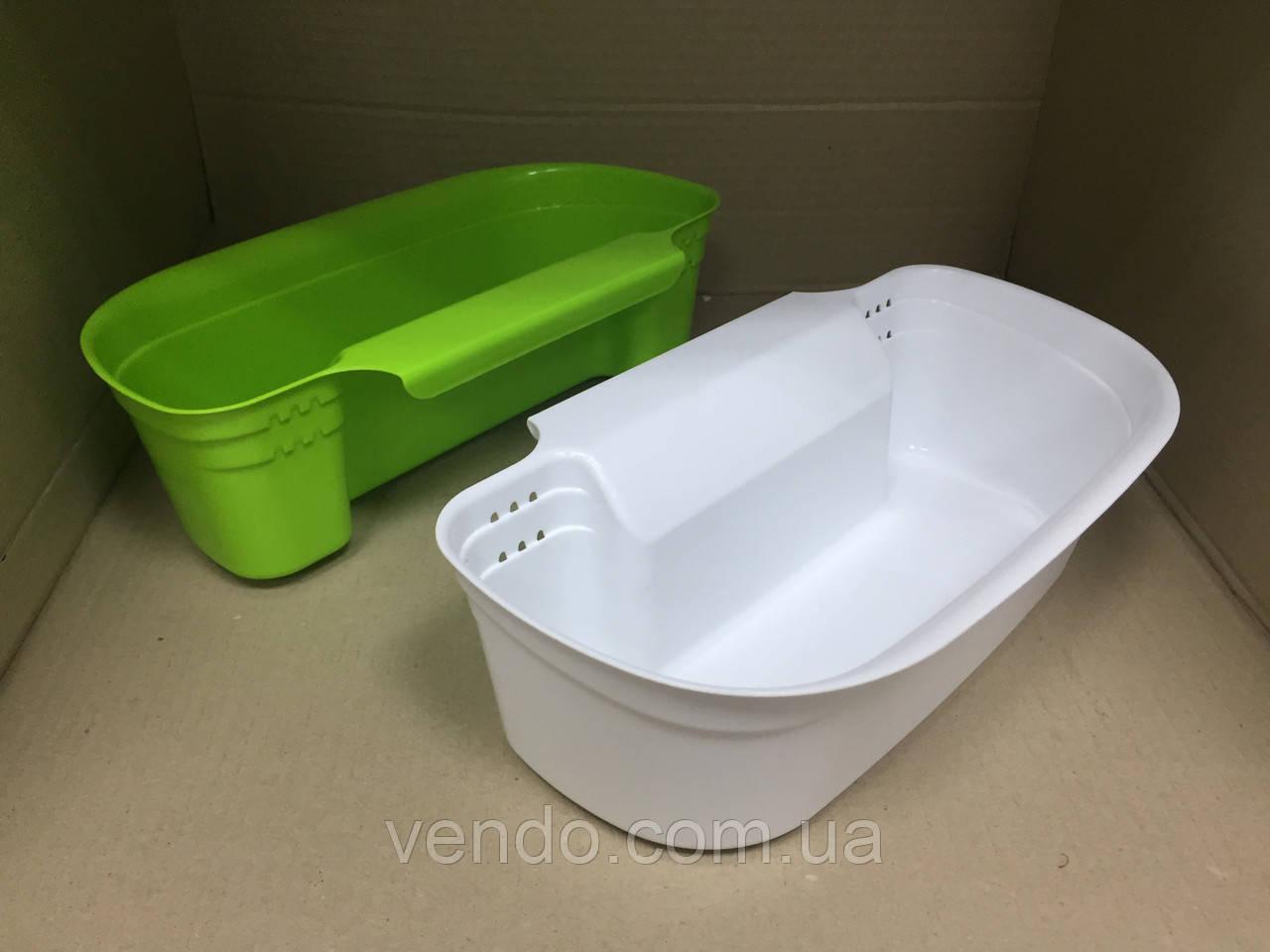 Ведро-контейнер навесное на дверцу мебели для мелкого мусора
