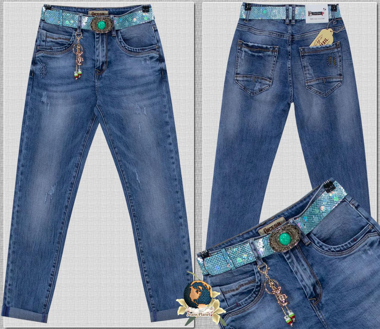 Джинсы женские бойфренды светло-синего цвета Dicesil 26 размер