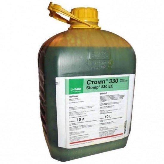 Довсходовый гербицид Стомп 33%КЕ (10 л) — почвенный, на множество с/х культур, ЗАЩИТНОЕ дей-е до 3-х месяцев