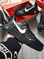 Мужские кроссовки Nike Air Force Low Black, фото 1