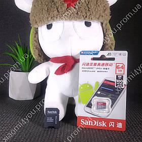 Карта памяти micro SD SanDisk Ultra 64Gb class 10 + SD adapter