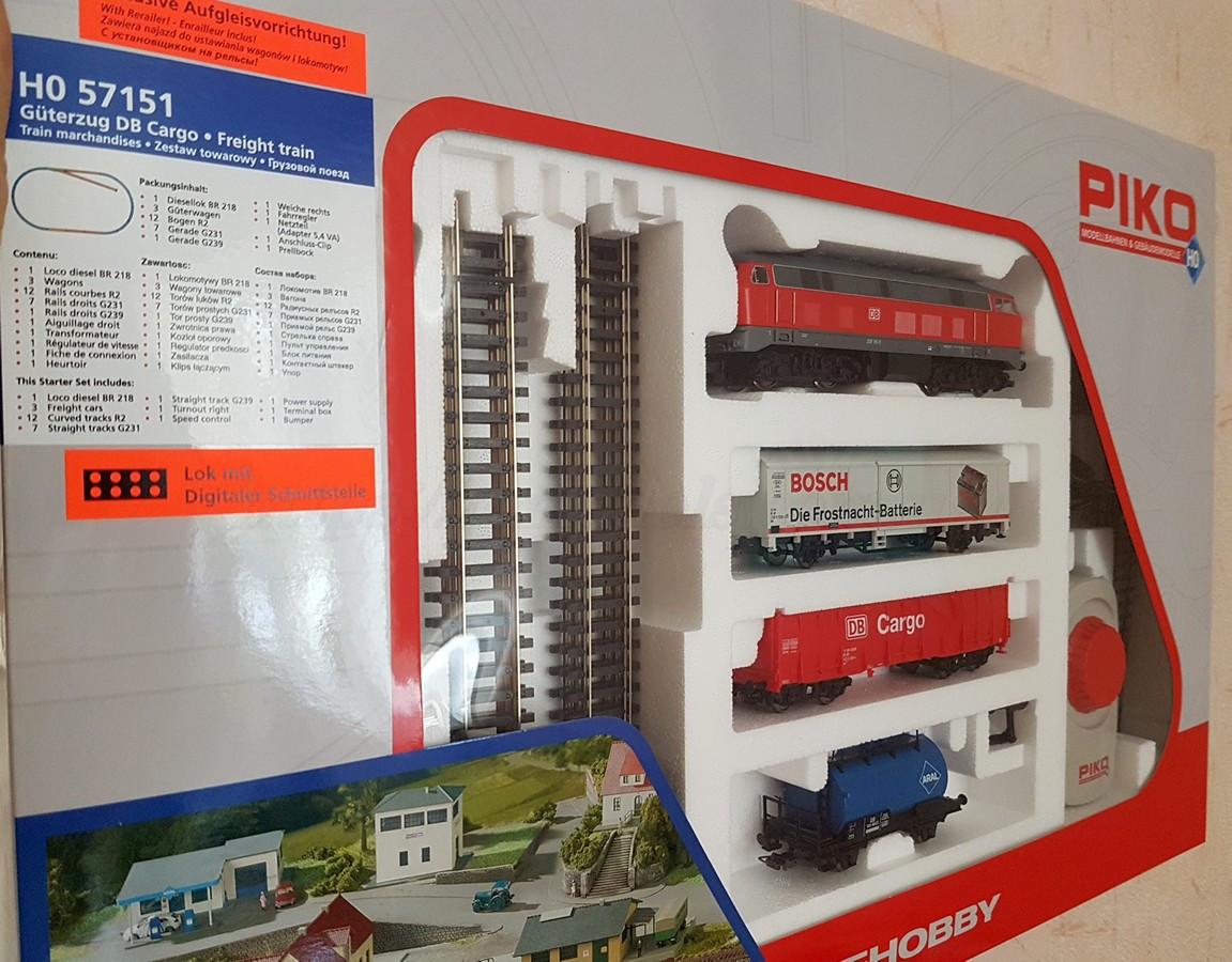 Детская Железная дорога Piko 57151Стартовый набор грузовой поезд, масштаб 1/87 H0