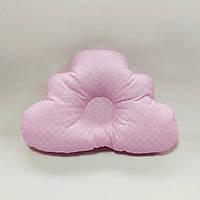 Ортопедическая подушка для младенца masterwork cloud 25*36 см. розовая