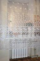"""Тюль """"Фатин соцветие белый"""" высота 1.8м., фото 1"""