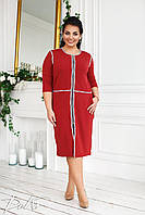 Платье - халат на змейке  в расцветках 52315, фото 1