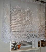 """Тюль """"Фатин соцветие белый"""" высота 1.2м., фото 1"""