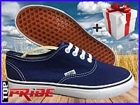Кеды Vans стильные (Ванс, Вансы) Authentic. (синие)