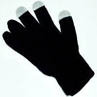 Сенсорные розовые перчатки для смартфонов TouchGlove ЧЕРНЫЕ, фото 1