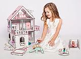 """Кукольный домик NestWood """"МИНИ КОТТЕДЖ"""" для кукол LOL (ЛОЛ) , 5 комнат (этаж 20см) + мебель 9 ед, фото 6"""