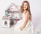"""Кукольный домик NestWood """"МИНИ КОТТЕДЖ"""" для кукол LOL (ЛОЛ) , 5 комнат (этаж 20см) + мебель 9 ед, фото 5"""