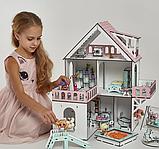 """Кукольный домик NestWood """"МИНИ КОТТЕДЖ"""" для кукол LOL (ЛОЛ) , 5 комнат (этаж 20см) + мебель 9 ед, фото 4"""