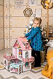 """Кукольный домик NestWood """"МИНИ КОТТЕДЖ"""" для кукол LOL (ЛОЛ) , 5 комнат (этаж 20см) + мебель 9 ед, фото 8"""